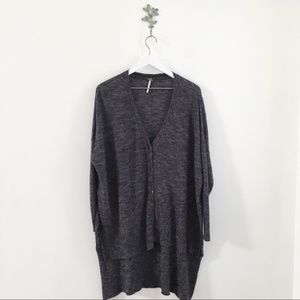Free People Sweaters - Free People TGIF High-Low Marled Cardigan Small